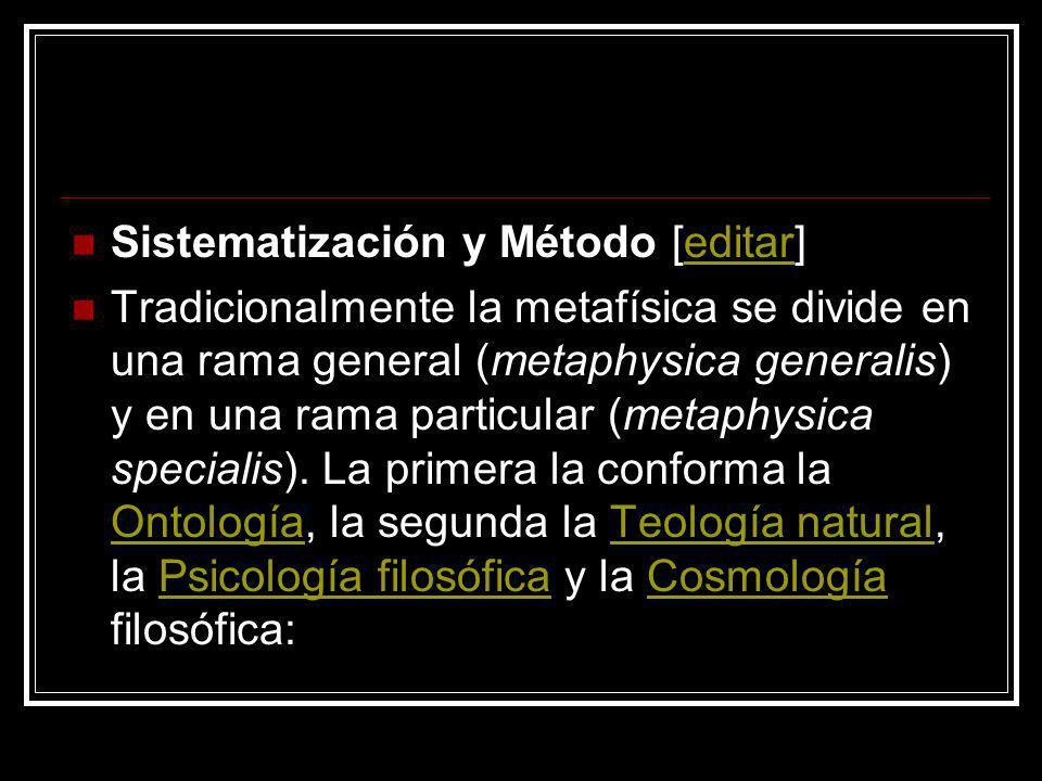 Sistematización y Método [editar]